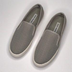 Steve Madden Gills Perforated Grey Slip On Sneaker